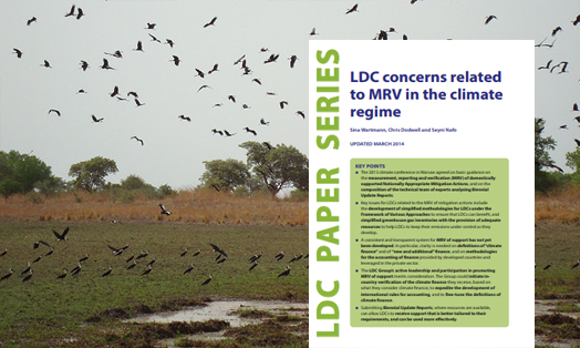 LDC concerns related to MRV in the climate regime