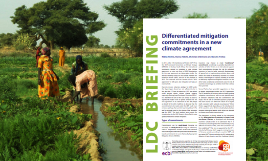 Differentiated mitigation commitments in a new climate agreement