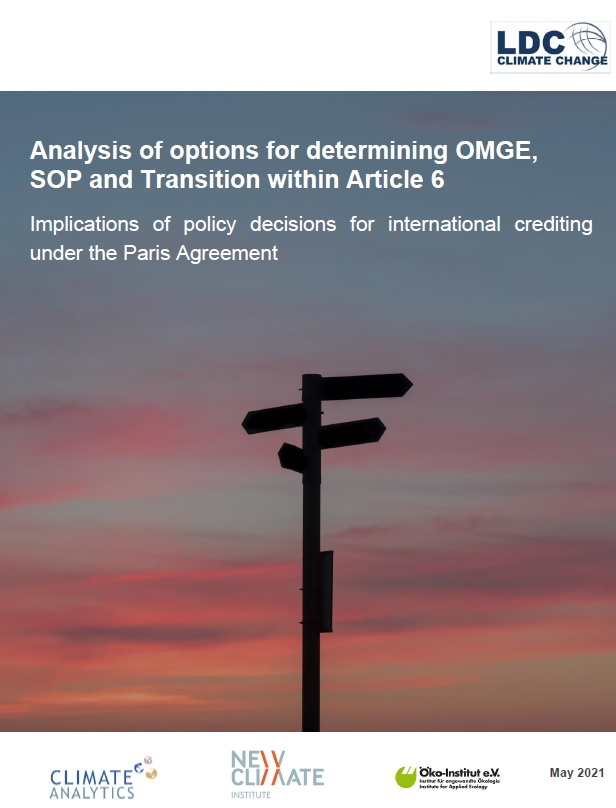 Analysis of options for determining OMGE, SOP and Transition within Article 6